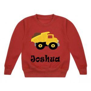 Dump Truck Any Name Childrens Sweatshirt / Jumper