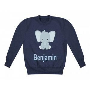 Elephant Any Name Childrens Sweatshirt / Jumper