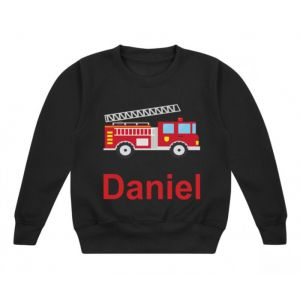 Fire Engine Any Name Childrens Sweatshirt / Jumper