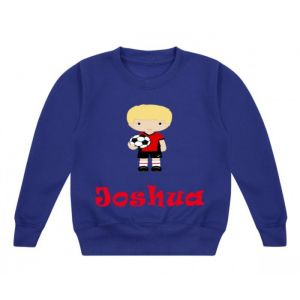 Football Player Any Name Childrens Sweatshirt / Jumper