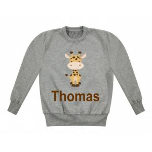 Giraffe Any Name Childrens Sweatshirt / Jumper