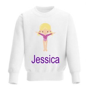 Gymnast Any Name Childrens Sweatshirt / Jumper