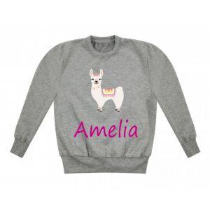Llama Any Name Childrens Sweatshirt / Jumper