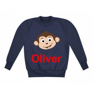 Monkey Any Name Childrens Sweatshirt / Jumper