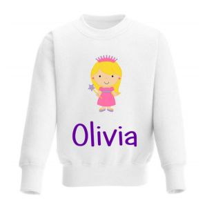 Princess Any Name Childrens Sweatshirt / Jumper