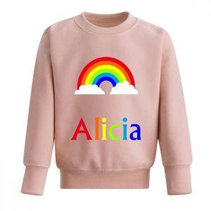 Rainbow Any Name Childrens Sweatshirt / Jumper