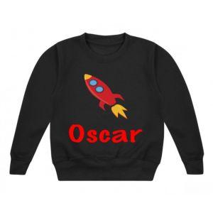 Rocket Any Name Childrens Sweatshirt / Jumper