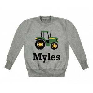 Tractor Any Name Childrens Sweatshirt / Jumper