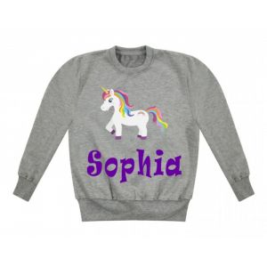 Unicorn Any Name Childrens Sweatshirt / Jumper