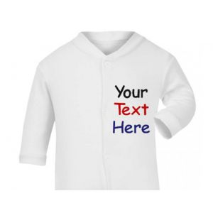 3 Lines Text Only Baby Sleepsuit