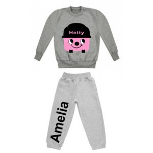 Hetty Hoover Any Name Childrens Tracksuit