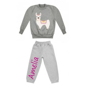 Llama Any Name Childrens Tracksuit