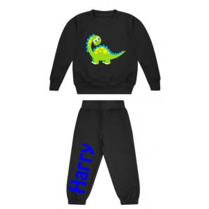 Cute Dinosaur Any Name Childrens Tracksuit