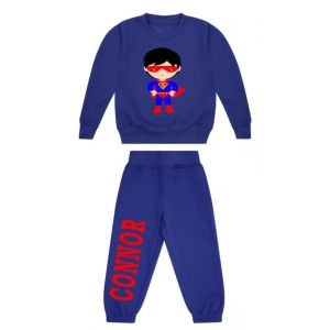 Superhero Boy Any Name Childrens Tracksuit