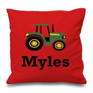 Tractor Any Name Printed Cushion