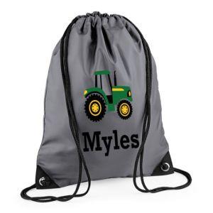 Tractor Any Name Drawstring Bag