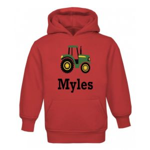 Tractor Any Name Childrens Hoodie
