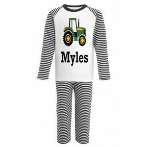 Tractor Any Name Childrens Pyjamas