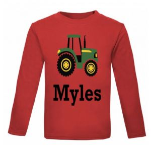 Tractor Any Name Childrens Printed T-Shirt