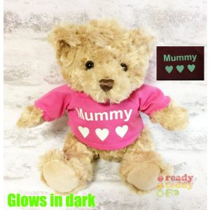 Small Traditional Brown Teddy Bear - Glow in the Dark T-Shirt