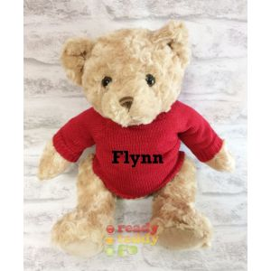 Traditional Brown Teddy Bear with Knitted Jumper
