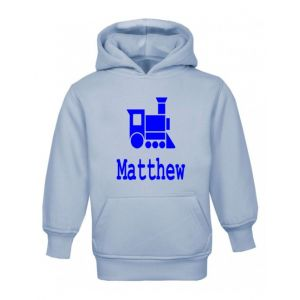 Train Silhouette Any Name Childrens Hoodie