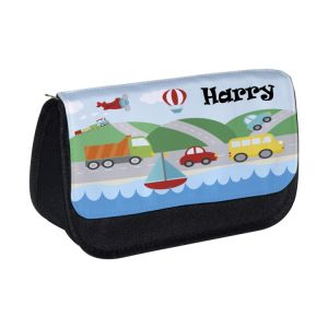 Transport Any Name Pencil Case