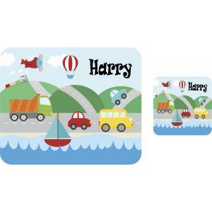 Transport Hardboard Placemat & Coaster