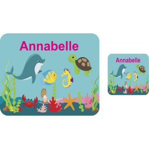 Under The Sea Hardboard Placemat & Coaster