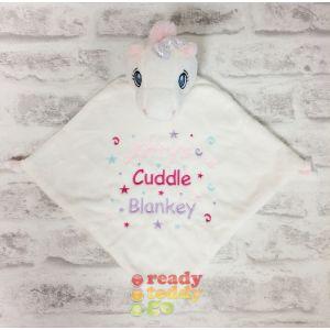 White Unicorn Comfort Blanket