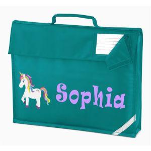 Unicorn Any Name Book Bag