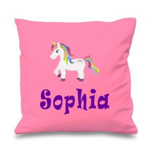 Unicorn Any Name Printed Cushion