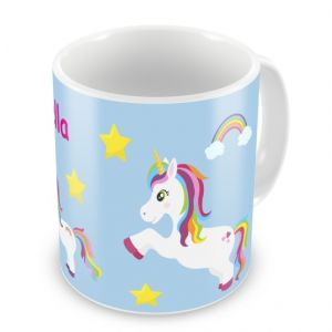 Unicorns + Name Mug