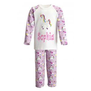 Unicorn Any Name Childrens Pyjamas