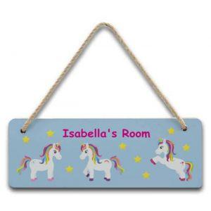 Unicorns Hanging Door Sign