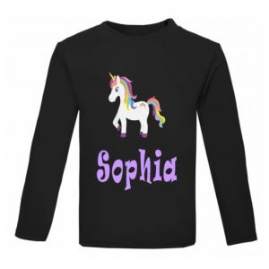 Unicorn Any Name Childrens Printed T-Shirt