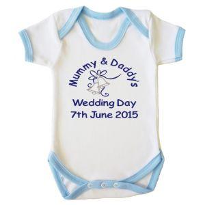 Mummy & Daddy's Wedding Day Any Date Boy Baby Vest