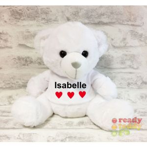White Teddy Bear with T-shIrt