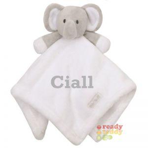 White Elephant Baby Comforter