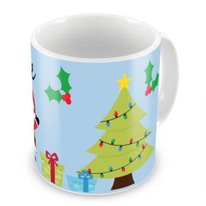 Christmas Fireplace Santa Any Name Mug