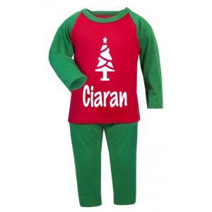 Christmas Tree Silhouette Childrens Glow in Dark Pyjamas