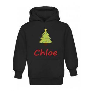 Christmas Tree Any Name Childrens Hoodie