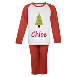 Christmas Tree Any Name Childrens Pyjamas