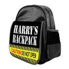 Caution Do Not Open Any Name Childs Backpack